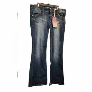 Truce Flare Plus Jeans NWT Distressing 17